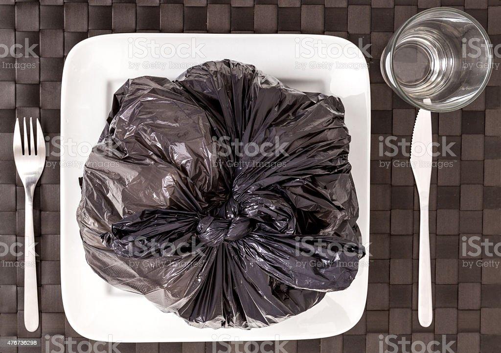 Garbage food stock photo