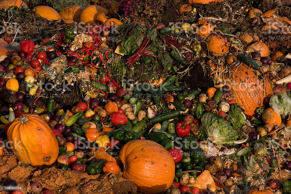 Garbage Heap for Compost II stock photo