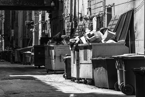 Garbage in alley