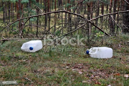 istock Garbage in the forest 450220185