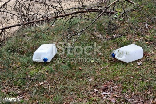 istock Garbage in the forest 455667013