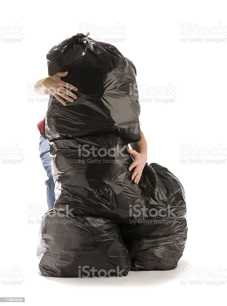 garbage overload stock photo