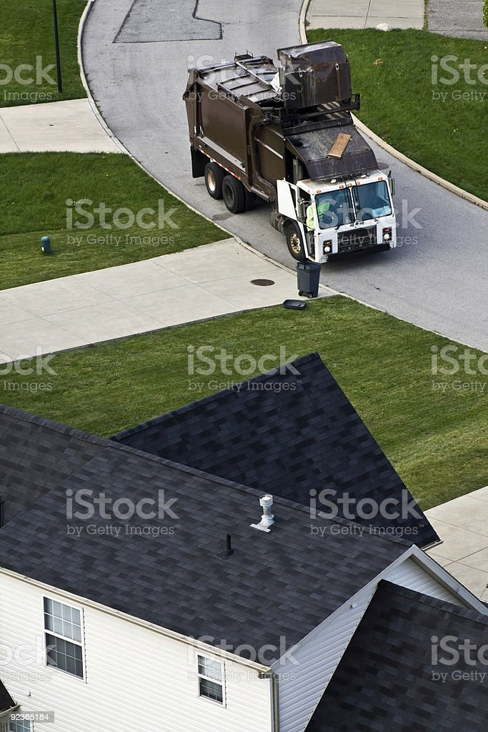 Garbage pick up royalty-free stock photo