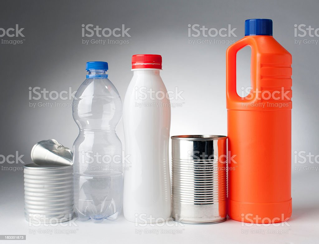 "garbage ""plastic bottles , studio isolated"" Alchemy Stock Photo"