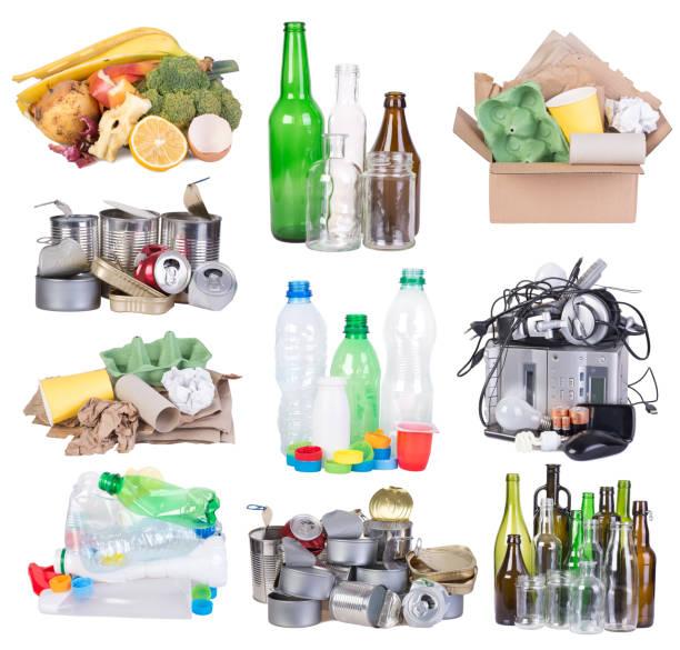Preparado para el reciclaje de basura - foto de stock