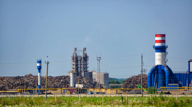 Garbage processing plant, waste disposal stock photo