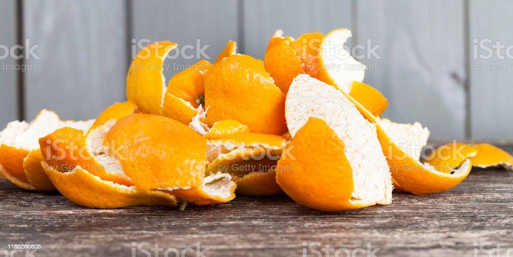 Garbage korst mandarijnen - Royalty-free Achtergrond - Thema Stockfoto