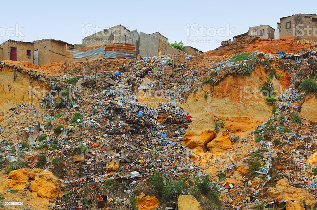 Garbage River stock photo