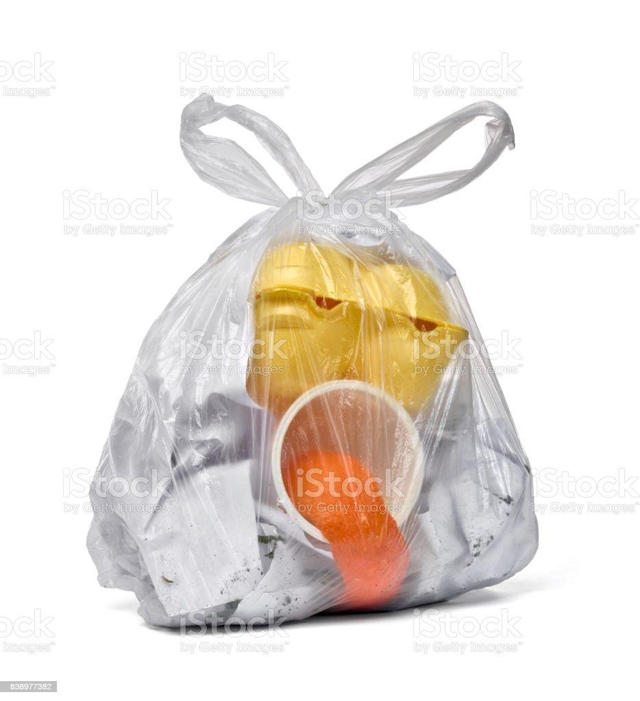 Müll Müll Tasche Gesicht – Foto