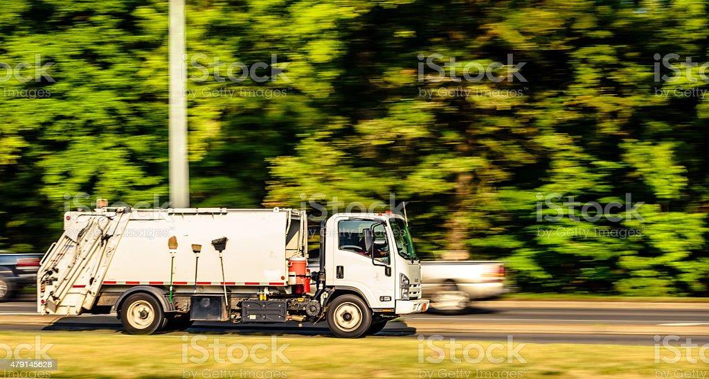 Garbage Truck stock photo