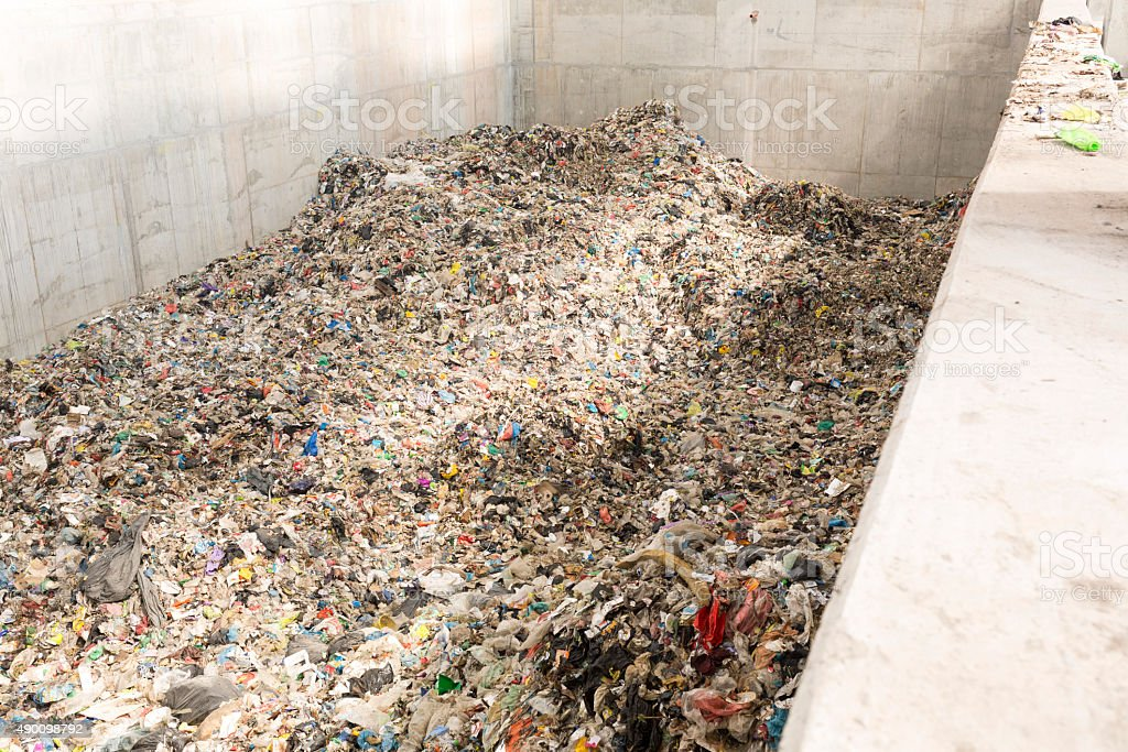 Garbage waste plant stock photo