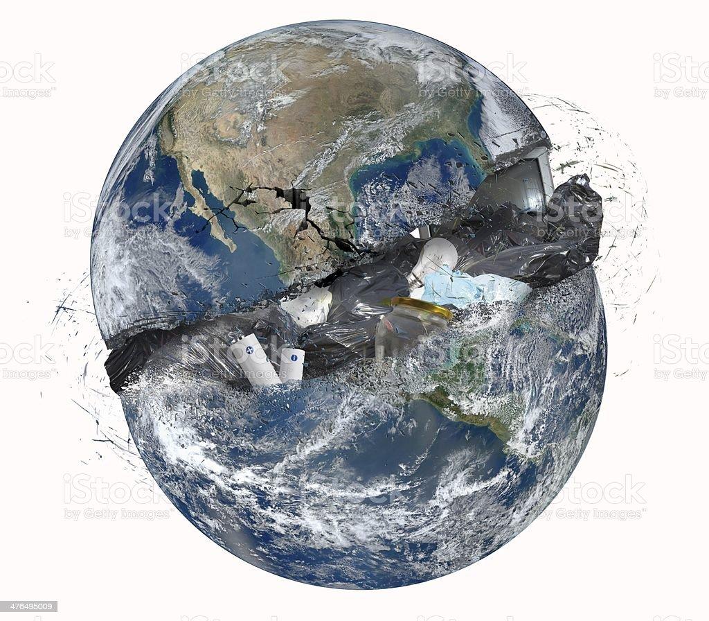 Garbage world royalty-free stock photo