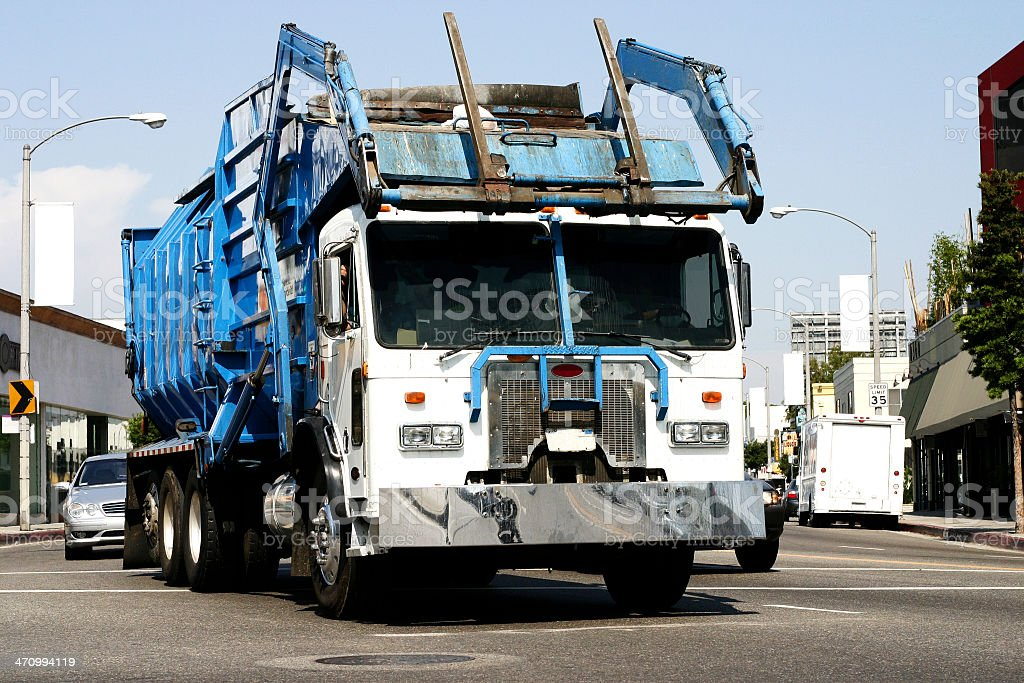 Garbage/Refuse/Rubbish Truck royalty-free stock photo