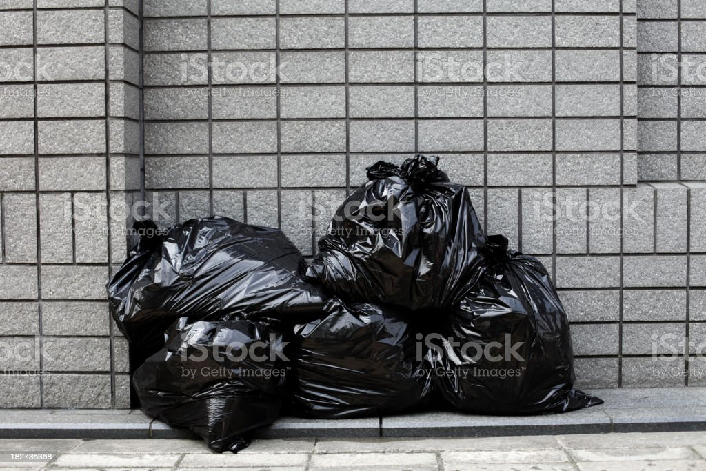 Garbages, Nylon Bags royalty-free stock photo