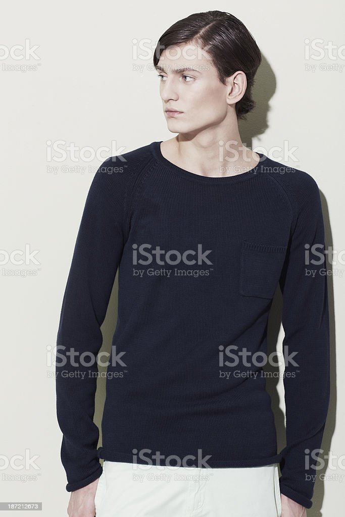 Garbed in the latest fashion stock photo