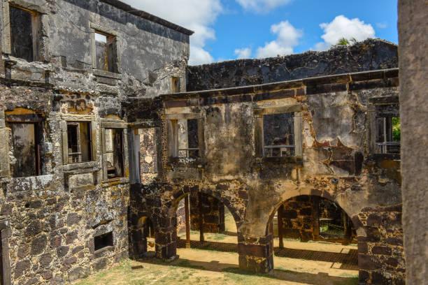 Garcia D'Avila castle ruins near Praia do Forte in Brazil stock photo