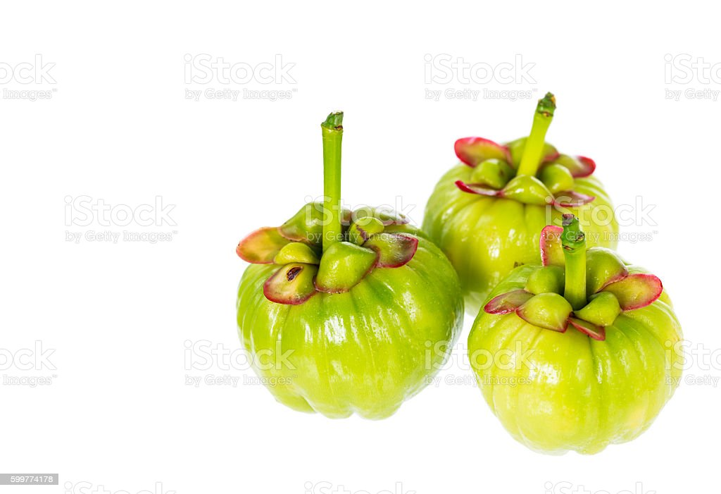 Garcinia Cambogia Fruit On White Background Fruit For Good Health