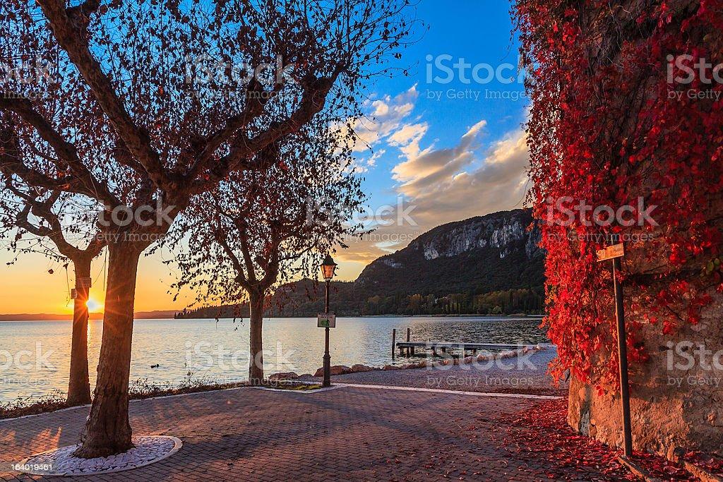 Garda at sunset, Italy royalty-free stock photo