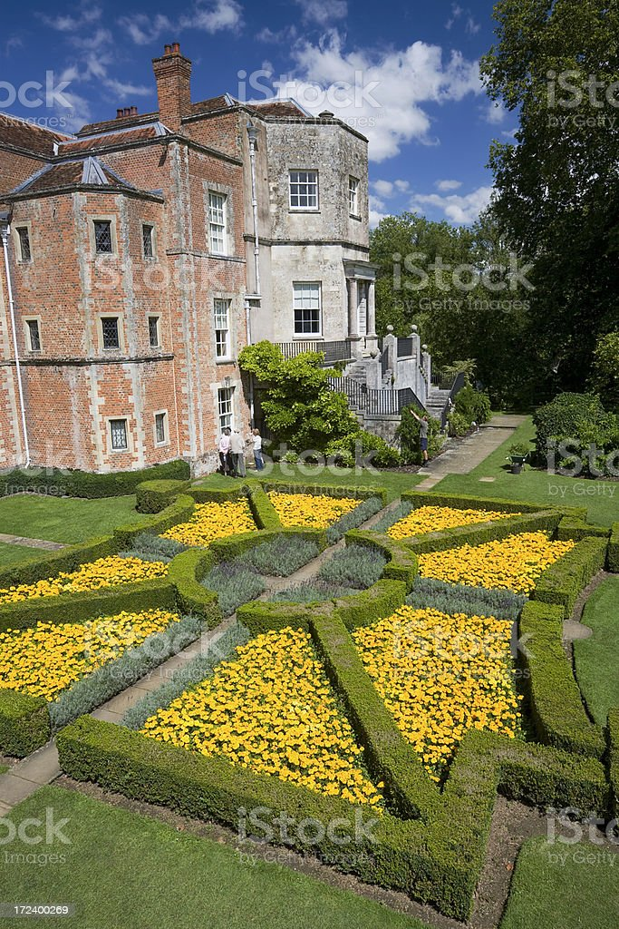 Garden and House at Mottisfont stock photo