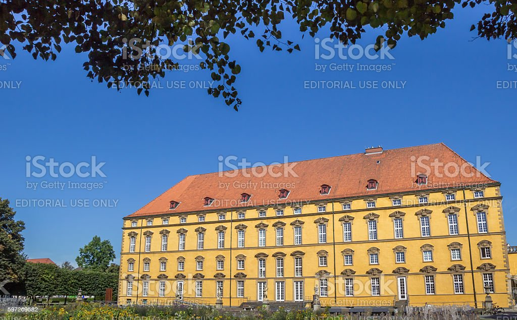 Garden and main building of the University of Osnabruck royalty-free stock photo