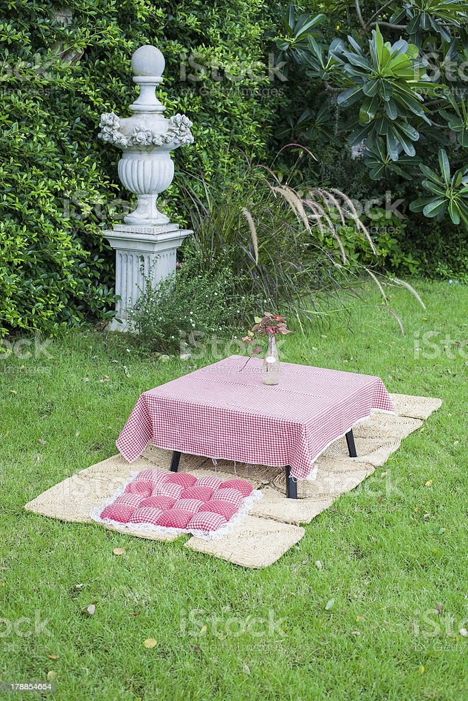 Garden and Mat royalty-free stock photo