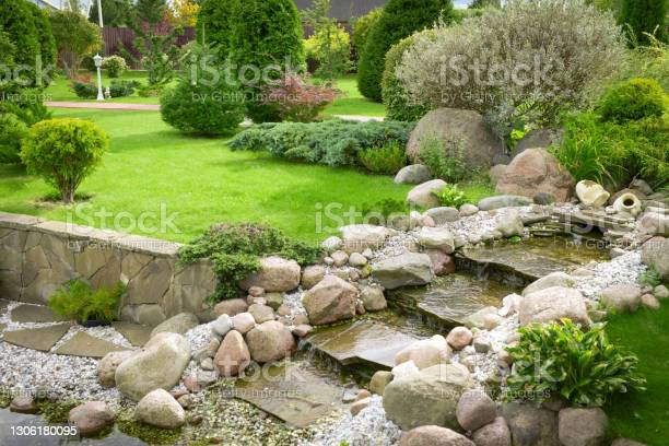 Photo of garden and pond