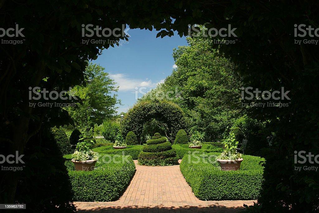 Garden Arch, Dayton, Ohio royalty-free stock photo