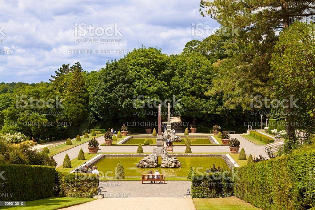 Garden at Blenheim Palace, Woodstock, Oxfordshire, England, United Kingdom. stock photo