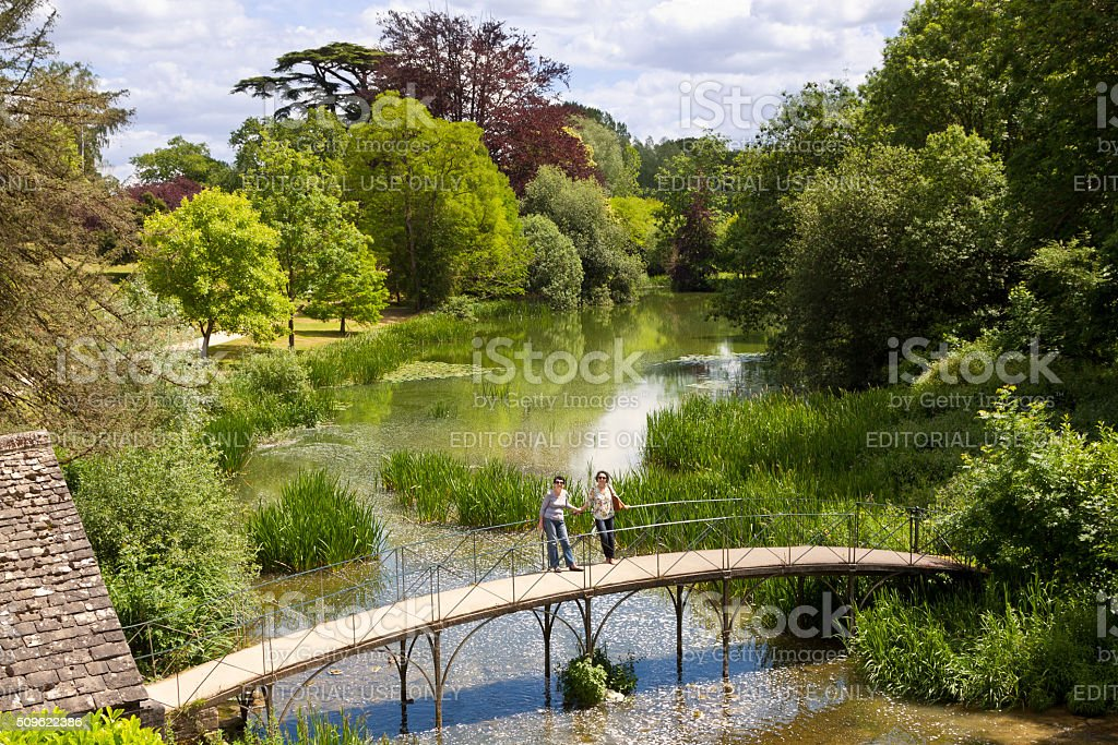 Garden at Blenheim Palace, Woodstock, Oxfordshire, England, United Kingdom. stock photo