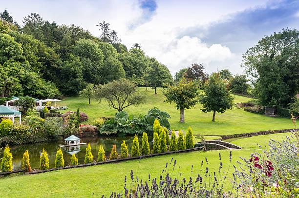 Garden at Cockington Village stock photo