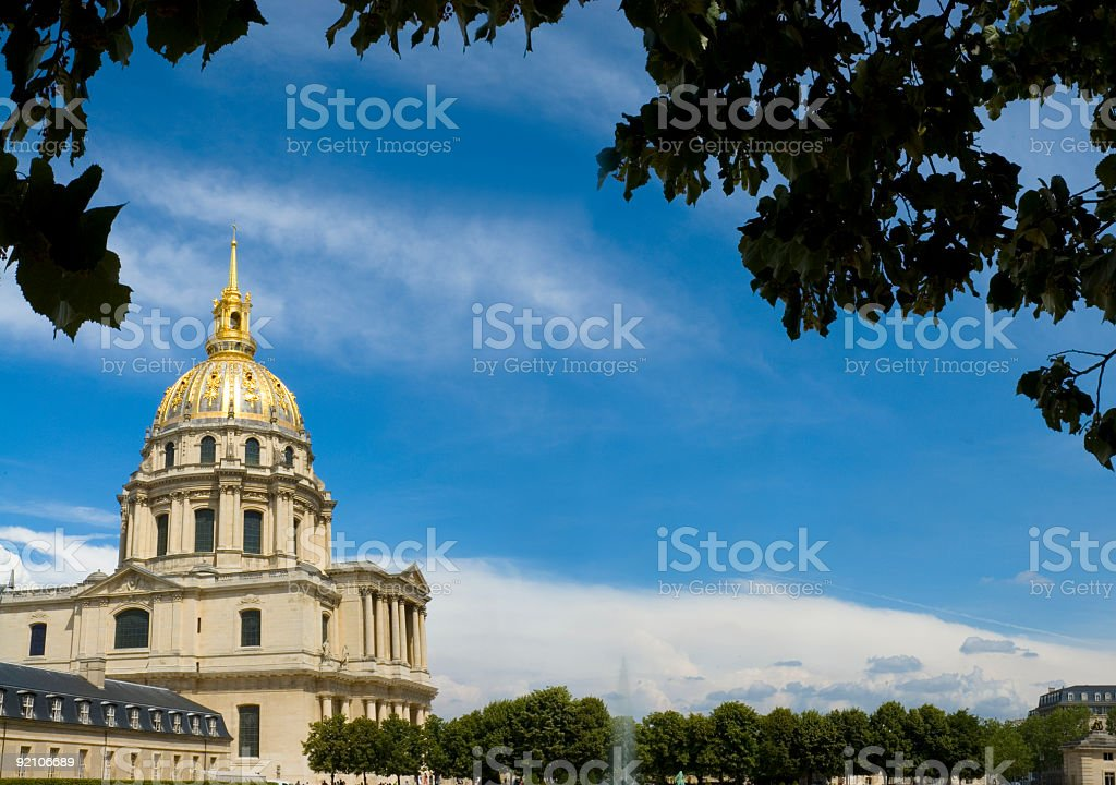 Garden at Les Invalides, Paris royalty-free stock photo
