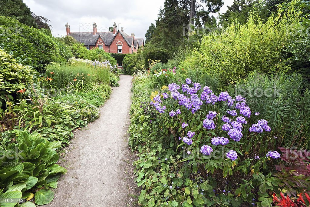 Garden at Sunnycroft in Shropshire, England stock photo