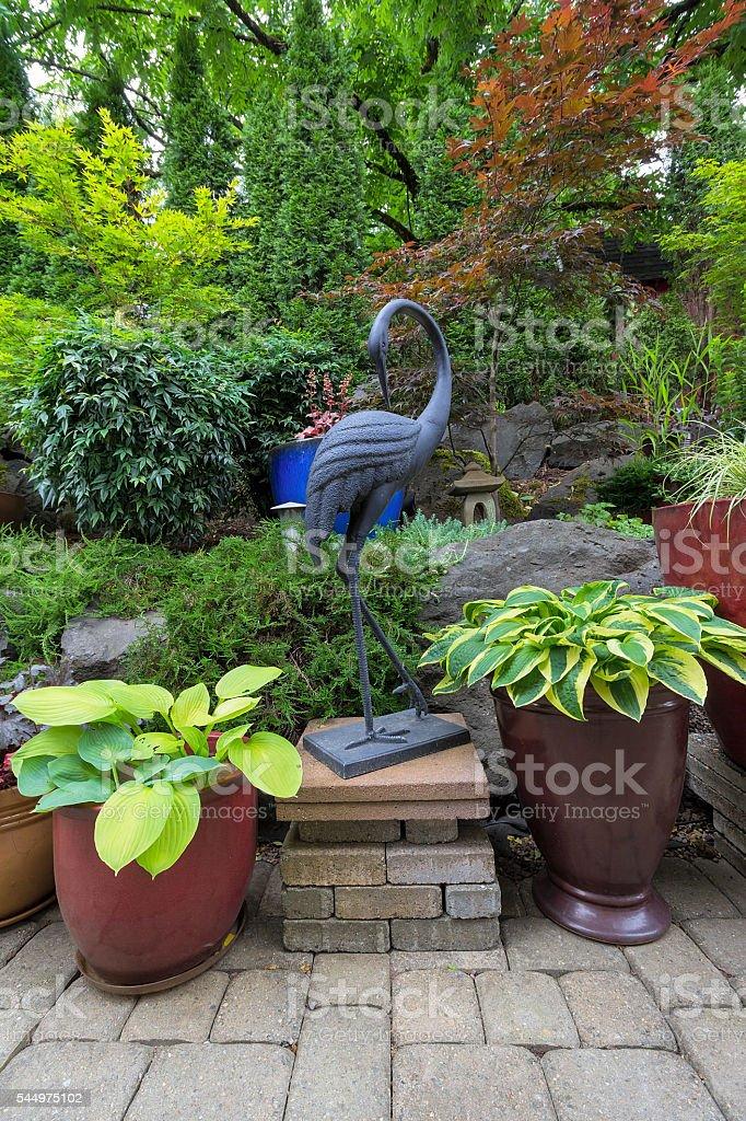 Garden Backyard Japanese Design Landscaping stock photo
