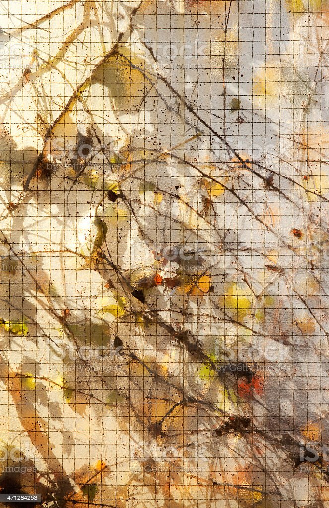 Garden behind the opal glass royalty-free stock photo