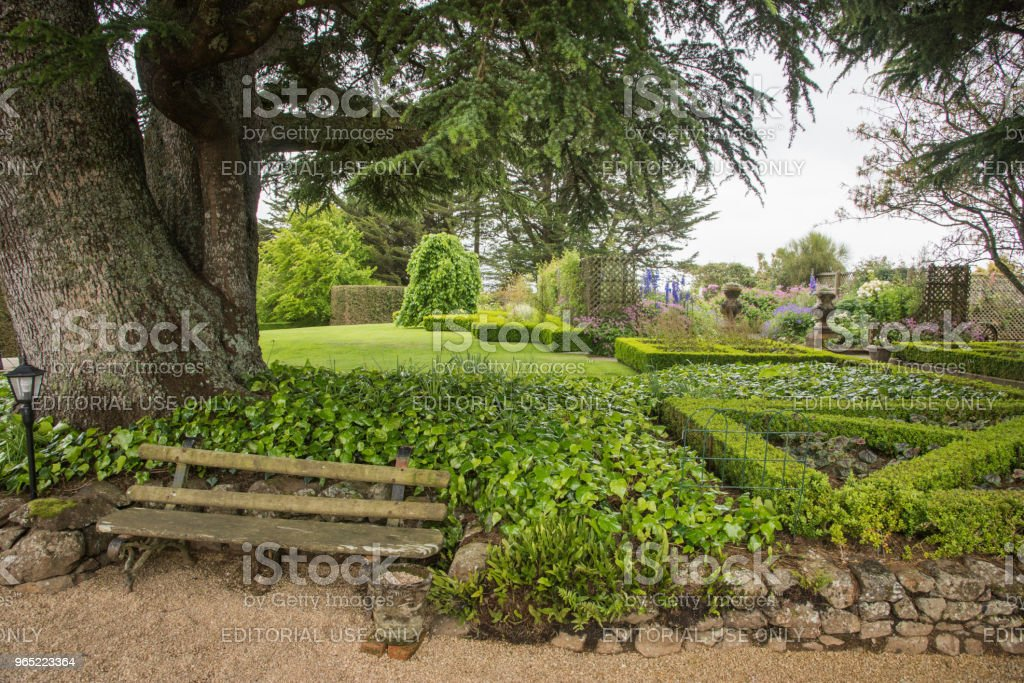 Garden Bench: Larnach Castle royalty-free stock photo