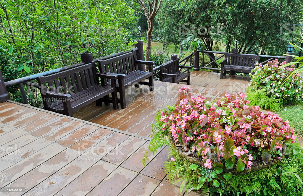 Garden bench royalty-free stock photo