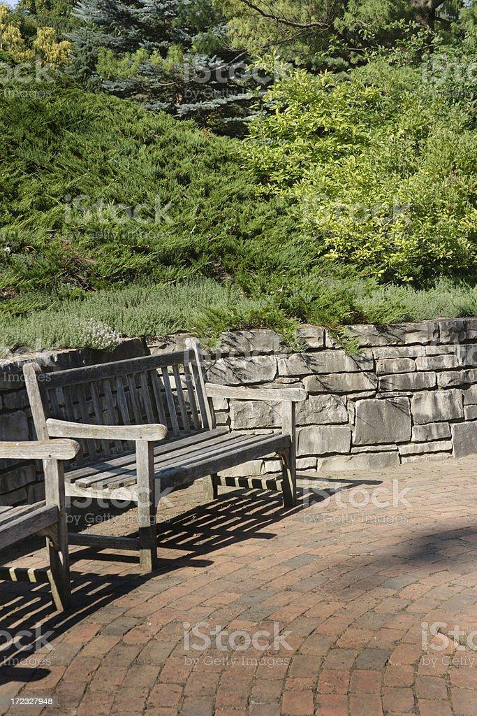 Garden Benches Vt royalty-free stock photo