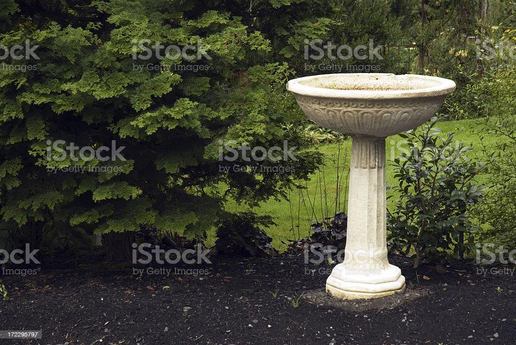 Garden Birdbath stock photo