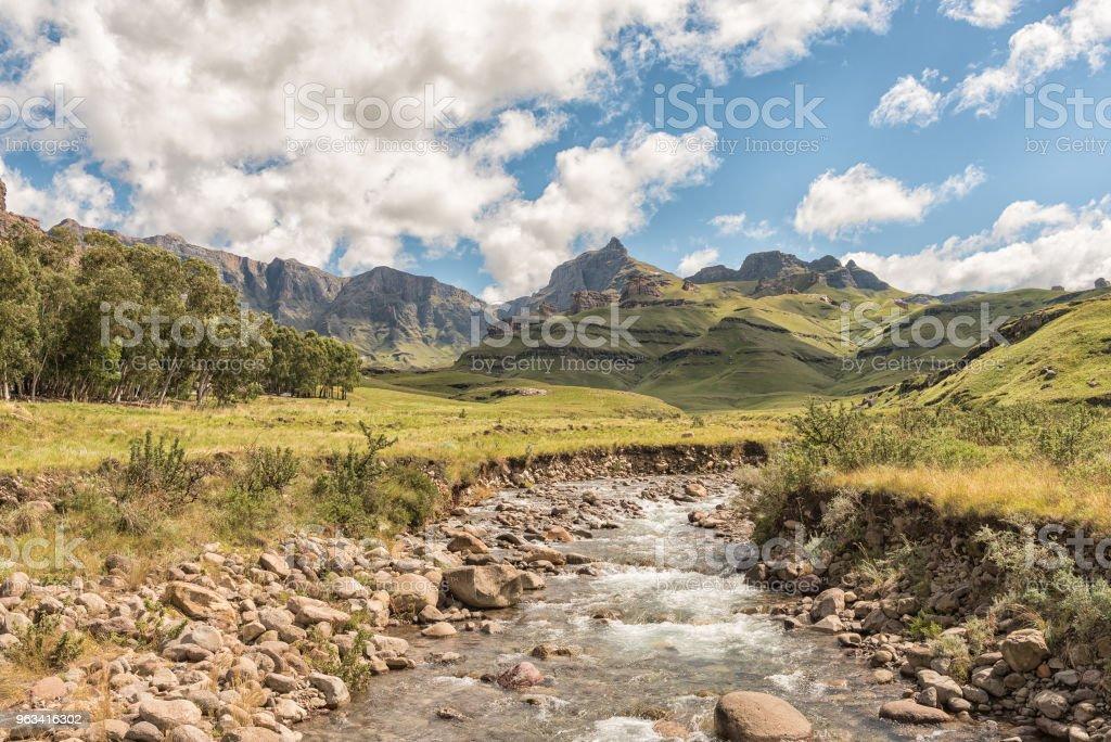 Château de jardin dans le Drakensberg près Underberg - Photo de Afrique libre de droits