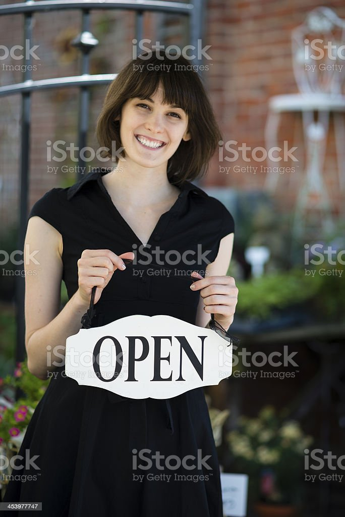 Garden Center Owner royalty-free stock photo