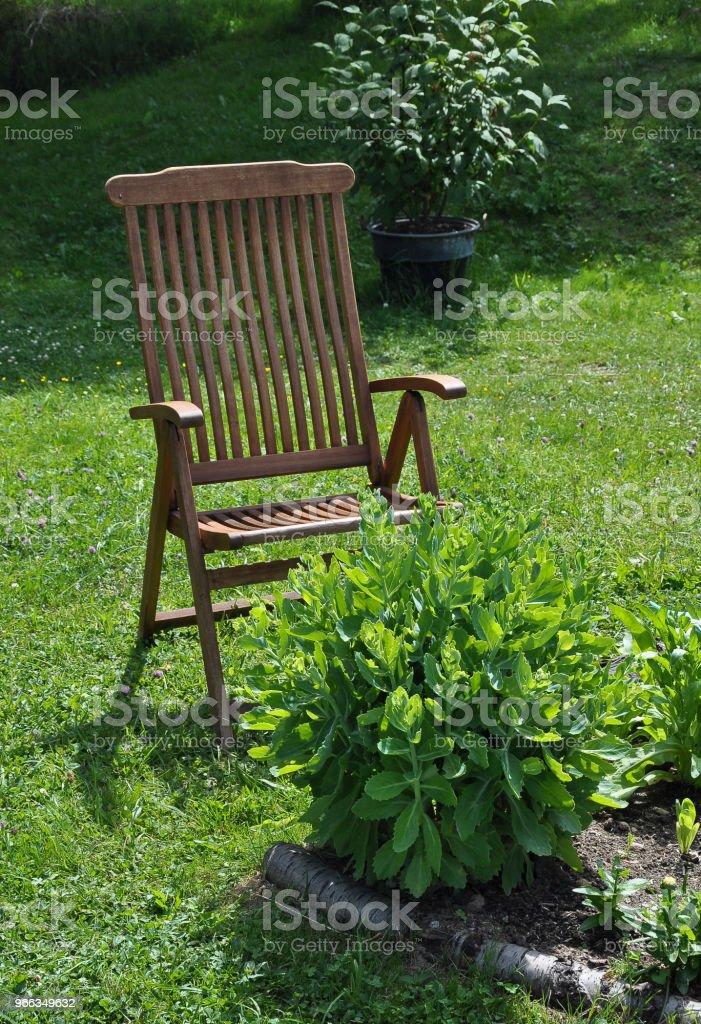 Garden chair for recreation in calm surroundings