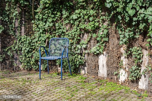 istock garden chair in a city park in spring 1213467240