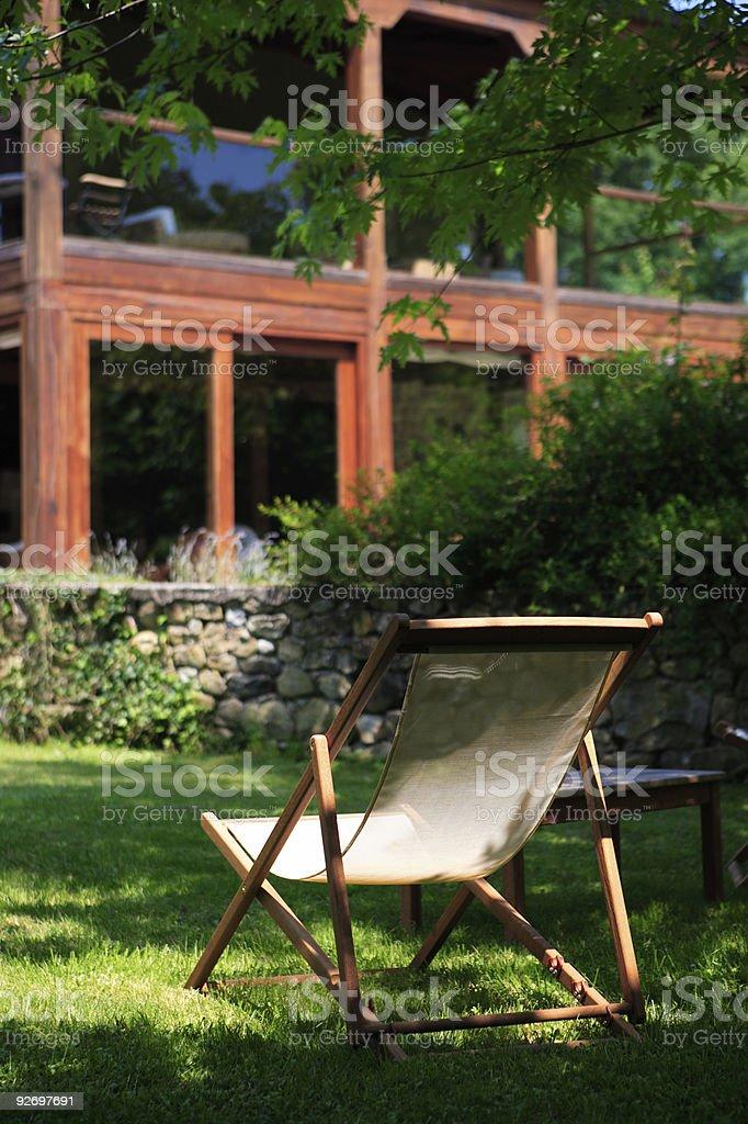 garden chair royalty-free stock photo