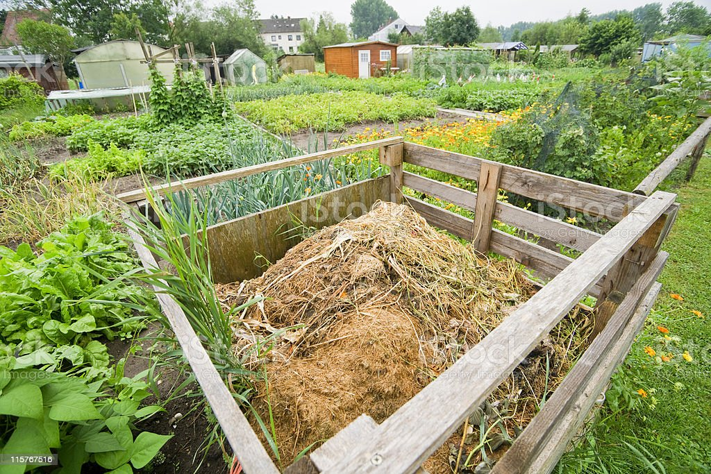 Garden Compost Bin stock photo