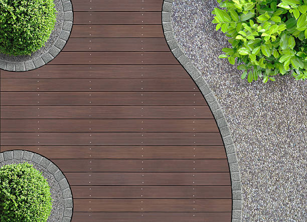 garden detail from above - exposed aggregate stock pictures, royalty-free photos & images