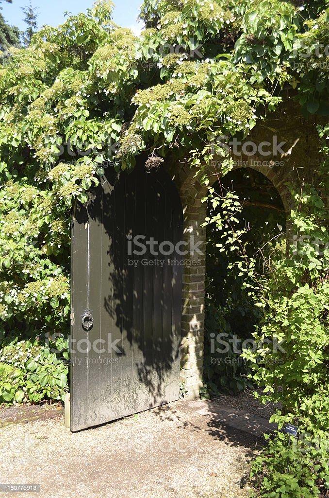 Garden door royalty-free stock photo