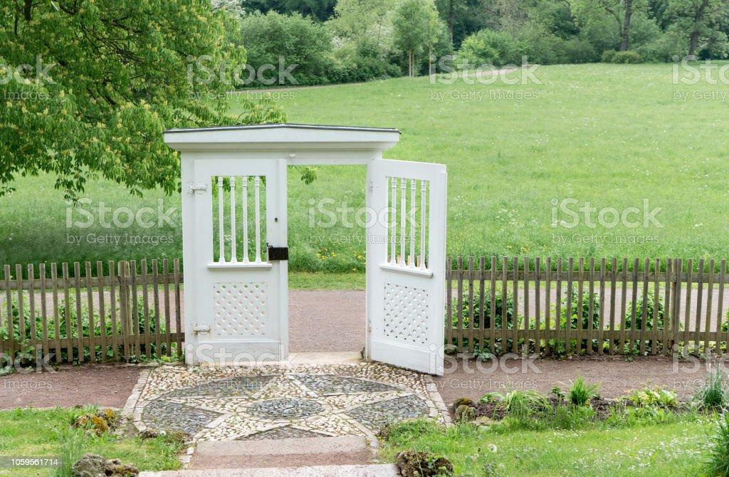 Garten Tür zu Goethes Gartenhaus – Foto