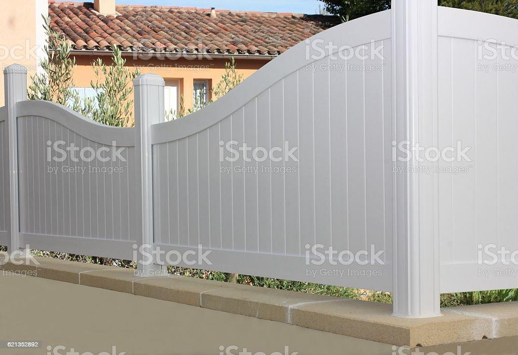 Clôture De Jardin En Pvc Stock Photo - Download Image Now ...