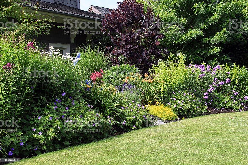 Garten Blumen-Bett – Foto