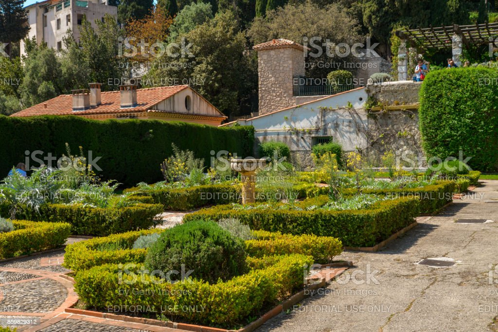 Garden Franciscan monastery stock photo